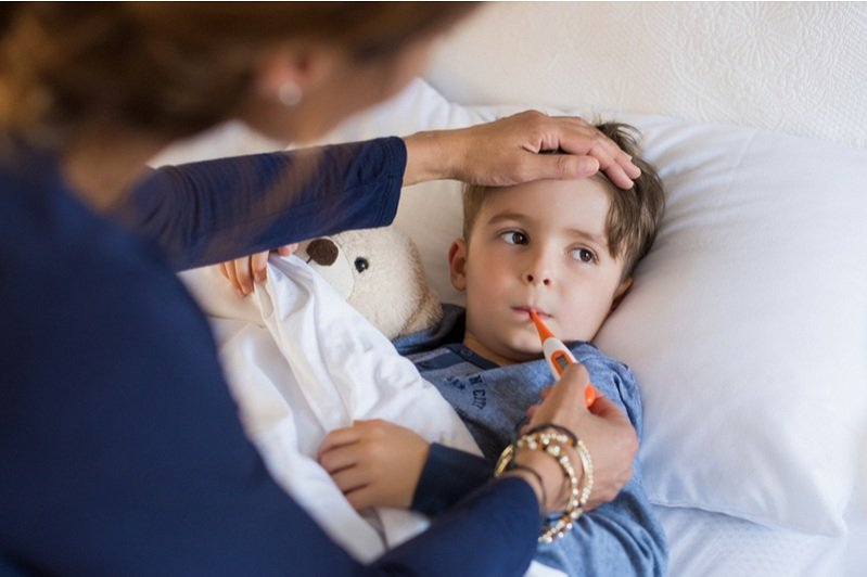 looking after a sick child